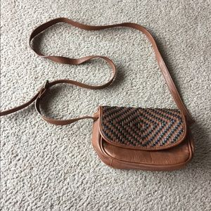 American eagle faux leather crossbody bag